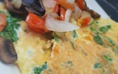 Freshly made Omelettes